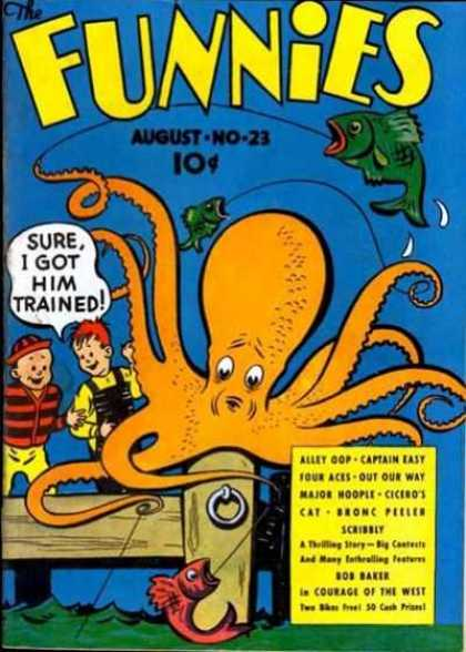 Funnies 23 - August - Fish - Octopus - Boy - Water