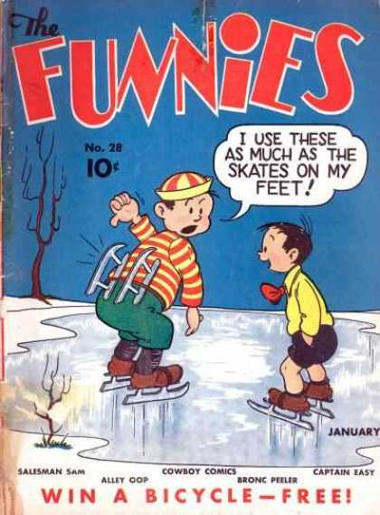 Funnies 28 - No28 - Ice Skates - Ice - Boys - Classic Comic