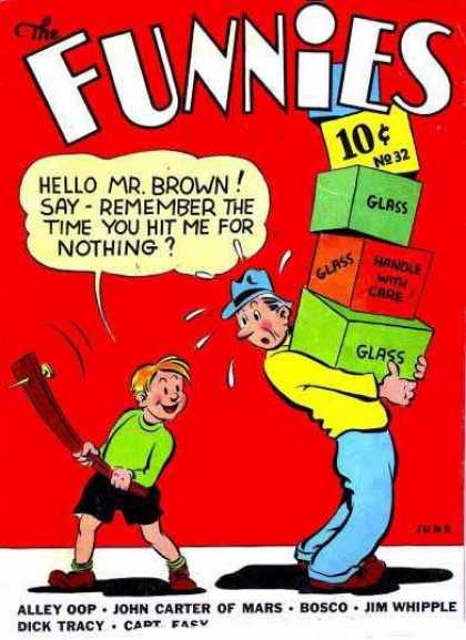 Funnies 32 - Mr Brown - Glass - Carrying Boxes - Bosco - John Carter Of Mars