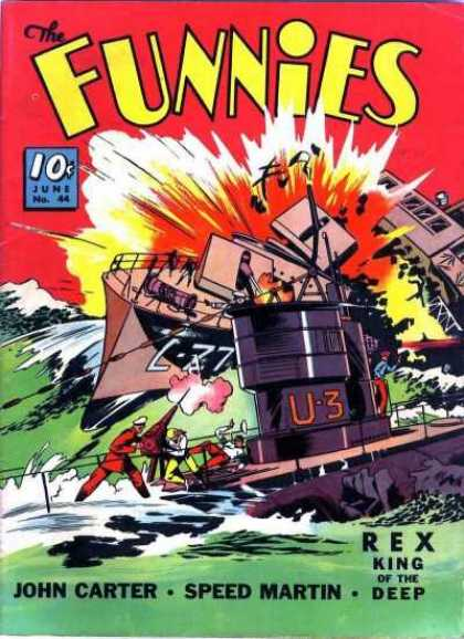 Funnies 44 - Crash - Red Sun Dawned That Day - C-27 Meets U-3 - War At Sea - Tragedy