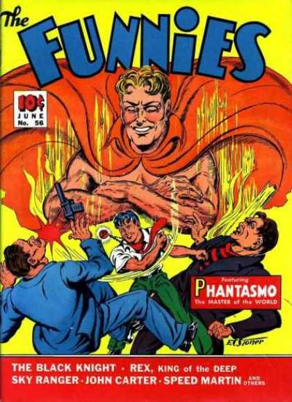 Funnies 56 - Phantasmo - The Black Knight - Sky Ranger - John Carter - Speed Martin