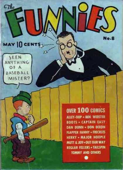 Funnies 8 - Seen Anything Of A Baseball Mister - Alley Oop - Ben Webster - Boots - Captain Easy