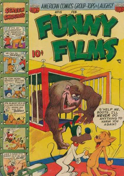 Funny Films 15 - Screen Snapshots - Gorilla - Dog - Cat - Cage