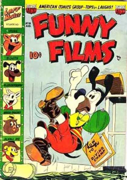 Funny Films 18 - Dog - Boots - Water - Diving Board - Book