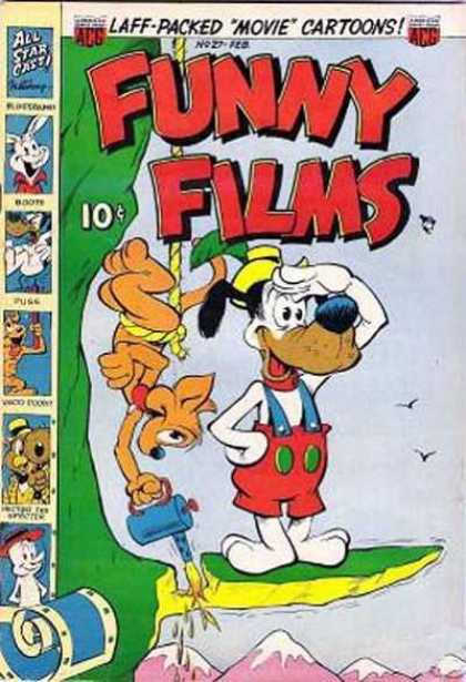 Funny Films 27 - 10 Cents - Laff-packed Movie Cartoons - White Dog Searching - Fox Welding Rock Hes Standing On - Mountains