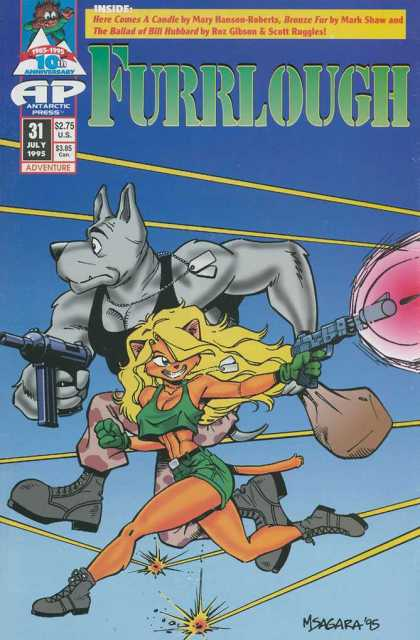 Furrlough 31 - July - Dog - Antarctic Press - Blonde - Guns