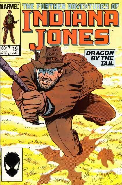 Further Adventures of Indiana Jones 19 - July 19 - Rope - Gun - Adventures - Dragon By The Tail - Bret Blevins