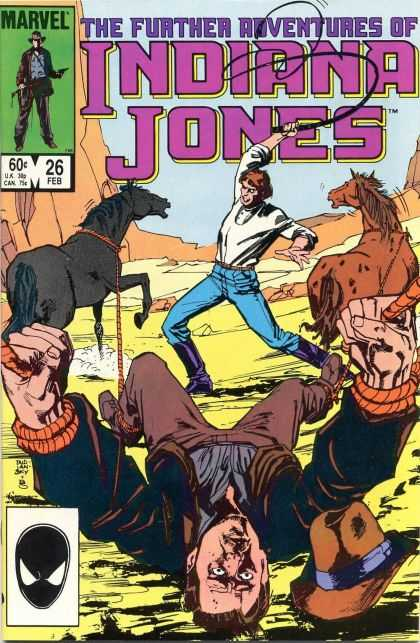 Further Adventures of Indiana Jones 26 - Marvel - February - Rope - Lasso - Horses