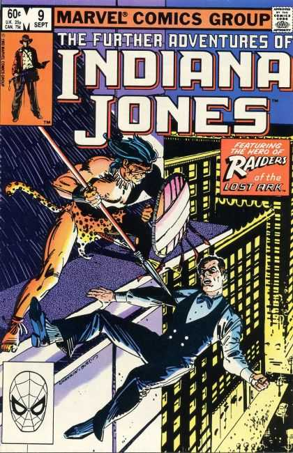 Further Adventures of Indiana Jones 9 - Raiders Of The Lost Aark - Speared - Cheetah Man Attacks - Falling - Help - Howard Chaykin, Terry Austin