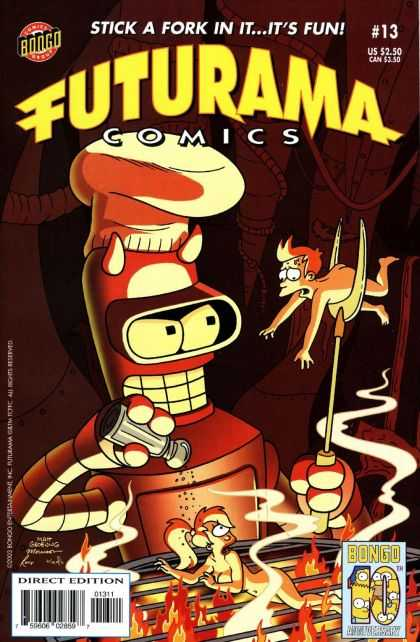 Futurama 13 - Robot - Salt - Bbq - Chef - Fork