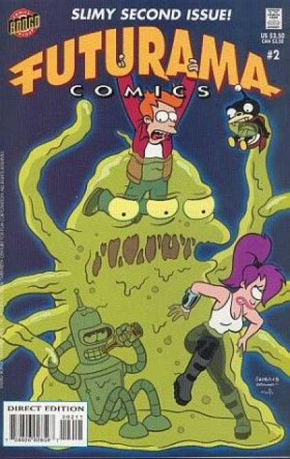 Futurama 2 - Futurama - Slimy Second Issue - Monster - Green - Slime