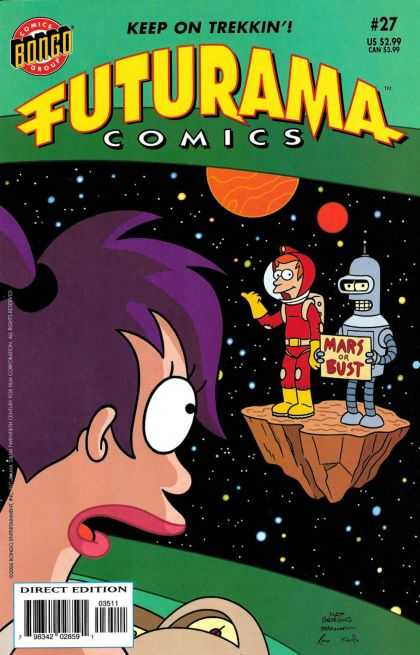 Futurama 27 - Comic - Comics - 27 - Mars Or Bust - Direct Edition