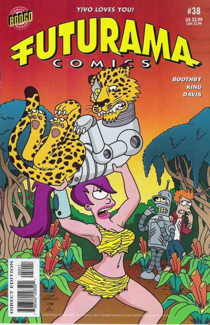 Futurama 38 - Leela - Cat - Yivo Loves You - Time Traveling - 38
