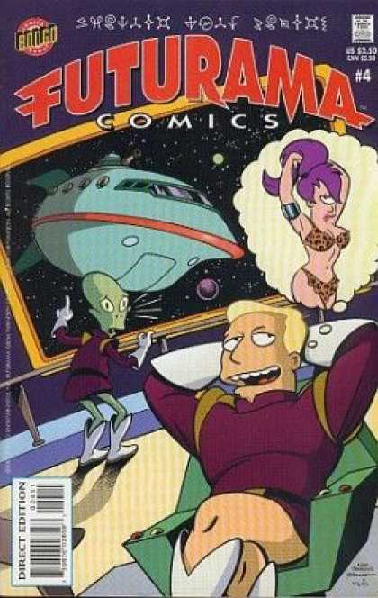 Futurama 4 - Japanese Comics - Bongo Comics - Leela - Captain Dan - Outer Space