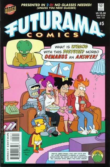 Futurama 5 - Morbo - Simpsons - Couch - Milhouse - Television