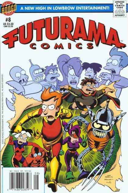 Futurama 8 - Bender - Fry - Super Heroes - Alter Ego - Number 8