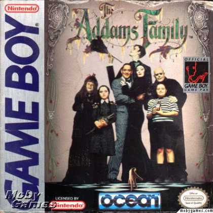 Game Boy Games - The Addams Family