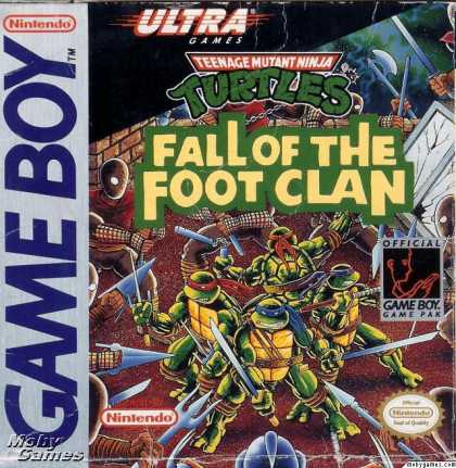 Game Boy Games - Teenage Mutant Ninja Turtles: Fall of the Foot Clan