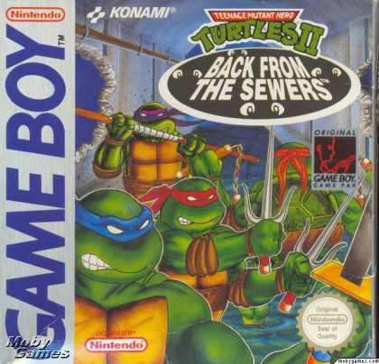 Game Boy Games - Teenage Mutant Ninja Turtles II: Back from the Sewers