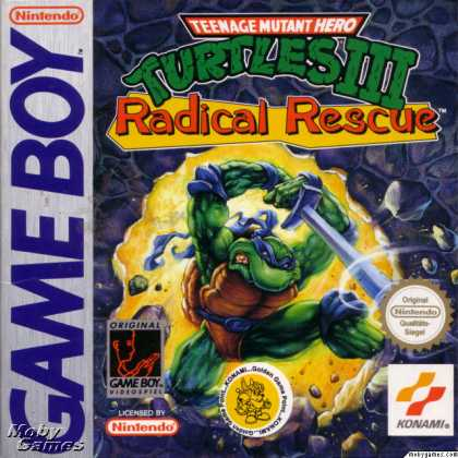 Game Boy Games - Teenage Mutant Ninja Turtles III: Radical Rescue