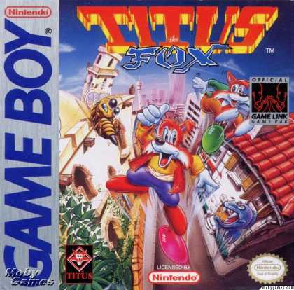Game Boy Games - Titus the Fox: To Marrakech and Back