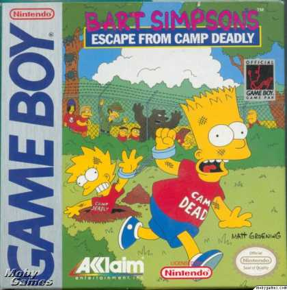 Game Boy Games - Bart Simpson's Escape from Camp Deadly