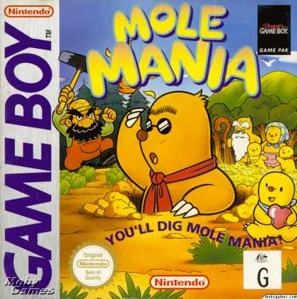 Game Boy Games - Mole Mania