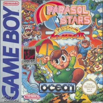 Game Boy Games - Parasol Stars: The Story of Bubble Bobble III