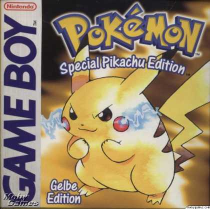 Game Boy Games - Pokémon Yellow: Special Pikachu Edition