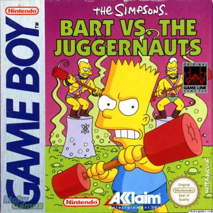Game Boy Games - The Simpsons: Bart vs. the Juggernauts