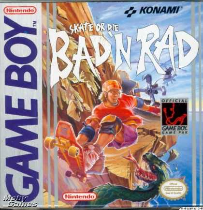 Game Boy Games - Skate or Die: Bad 'N Rad