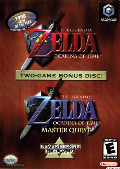GameCube Games - The Legend of Zelda: Ocarina of Time / Master Quest