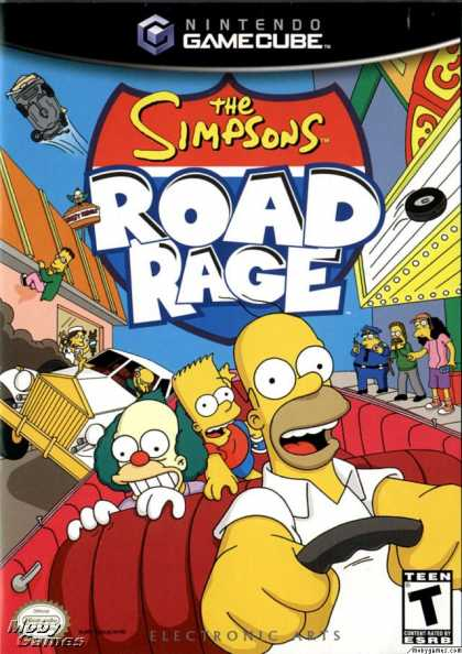 GameCube Games - The Simpsons: Road Rage