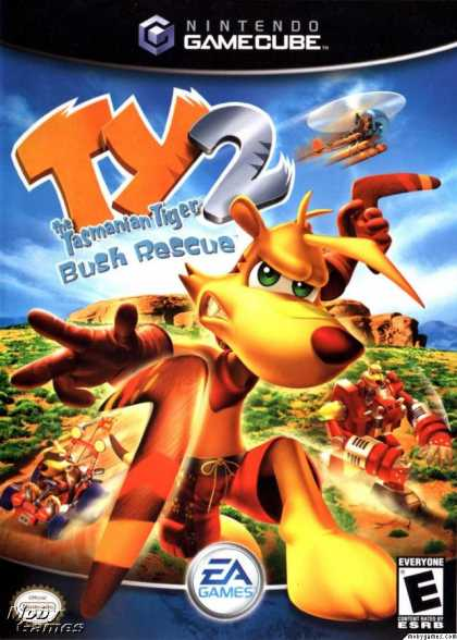 GameCube Games - TY the Tasmanian Tiger 2: Bush Rescue