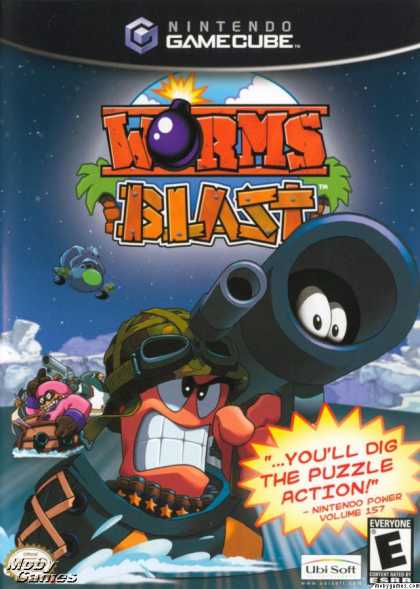 GameCube Games - Worms Blast