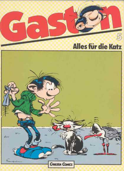 Gaston 5 - Carlsen Comics - German - Cats - Whimsical Art - Humor