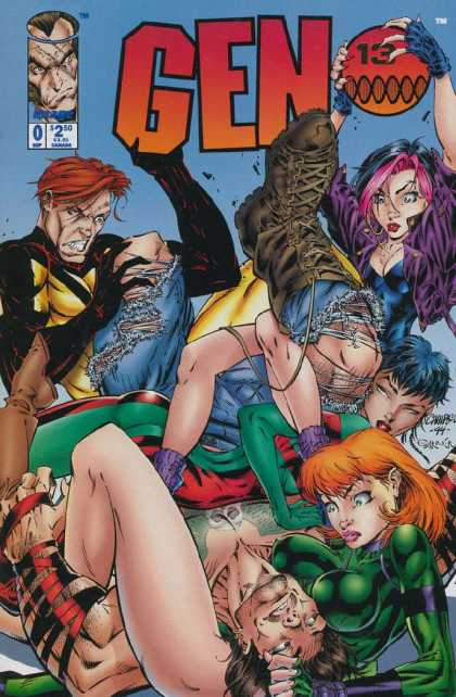 Gen13 0 - Ball - Boot - Torn Jeans - Redhead - Pink Hair - Alex Garner