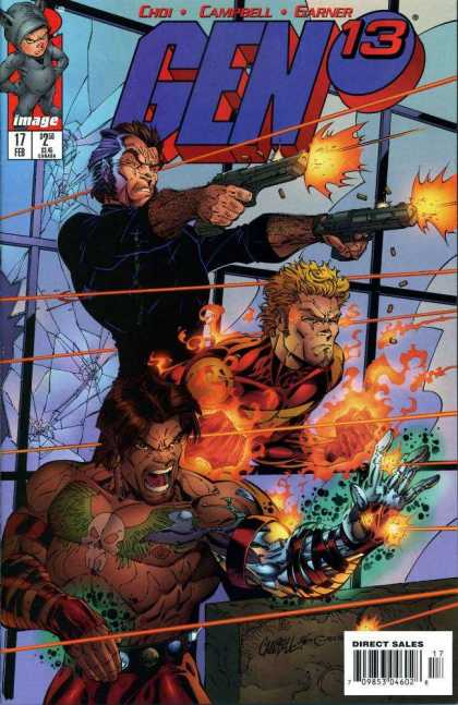 Gen13 17 - Gen - Thrill - Fire - Gun - Fight - Alex Garner, Drew Geraci
