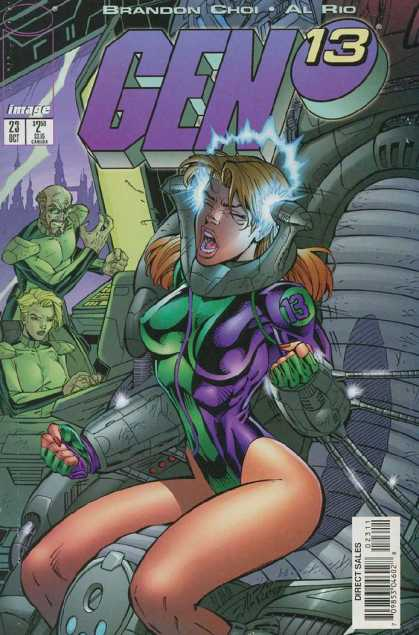 Gen13 23 - Legs - Headache - Green Man - Green Woman - Red Fingernails - Al Rio