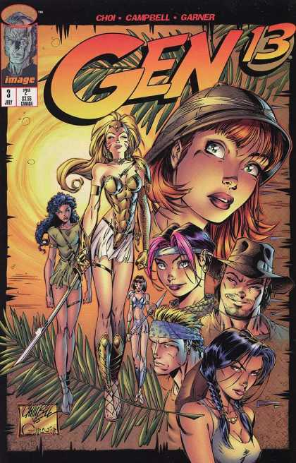 Gen13 3 - Explorer - Hat - Spear - Grass - Palm Leaves - Alex Garner