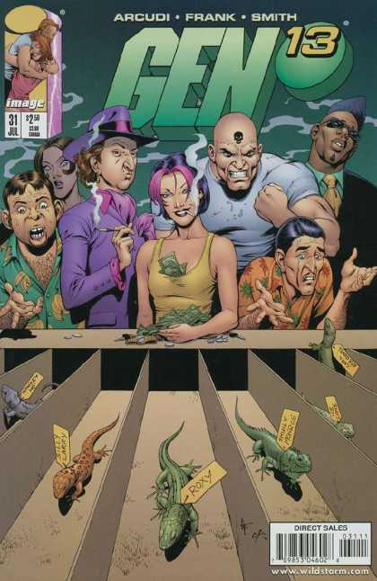 Gen13 31 - Lizards - Purple Hat - Cigarette - Skull - Mohawk - Gary Frank