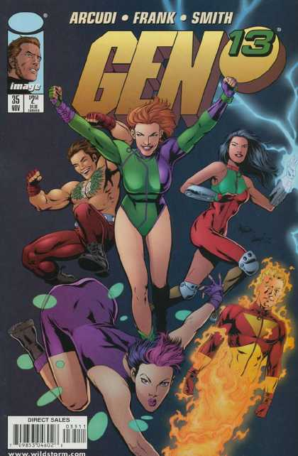 Gen13 35 - Gen 13 - Woman - Green - Purple - Fire - Gary Frank