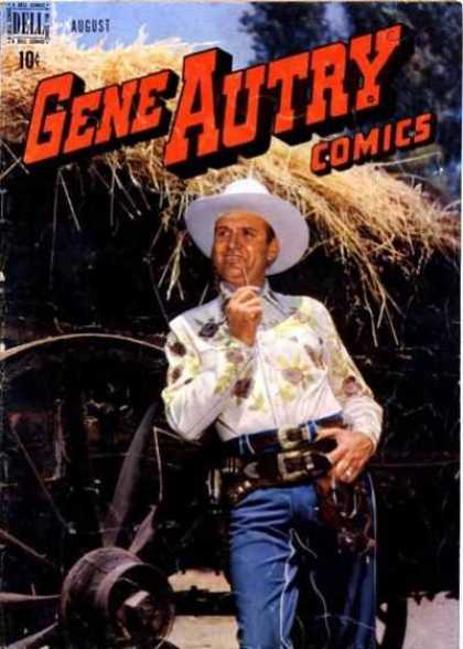 Gene Autry Comics 18 - Dell - August - Cowboy - Man - Wheel