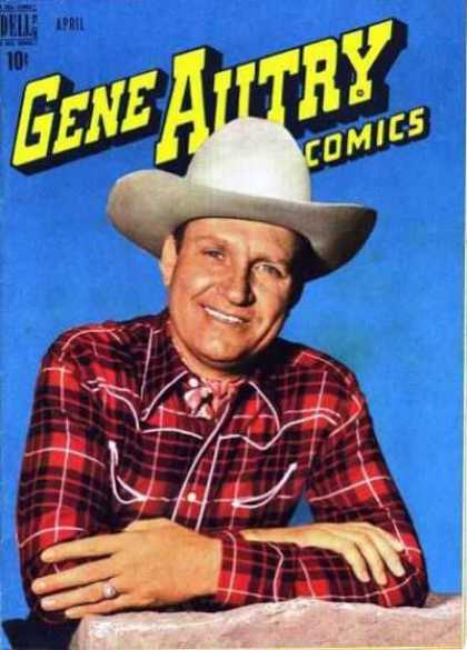 Gene Autry Comics 26 - Man - Hat - Face - Eyes - Teeth