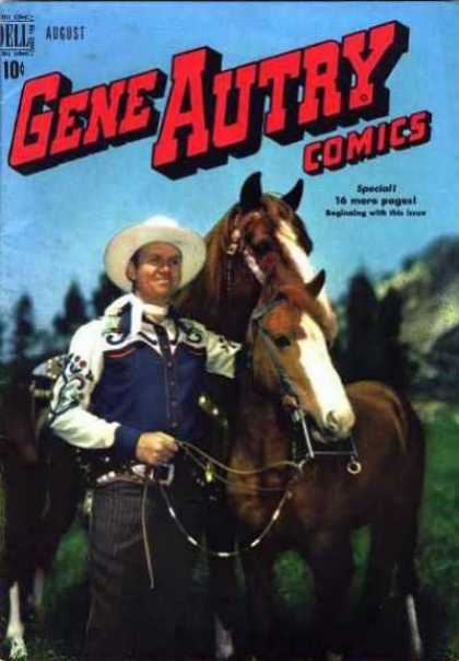 Gene Autry Comics 30 - Cowboy - Horses - Cowboy Hat - Harness - Outdoors