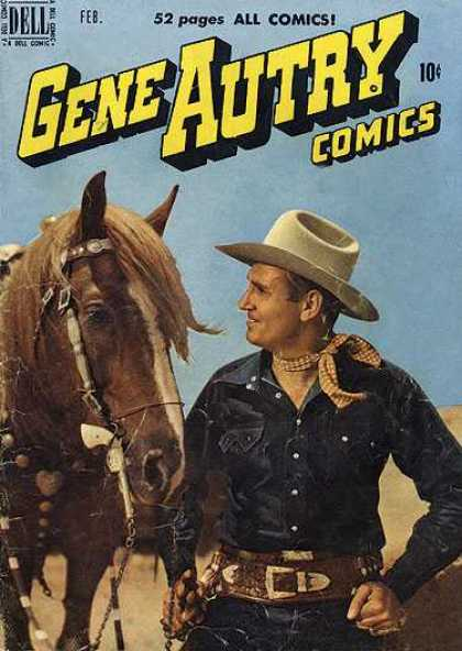 Gene Autry Comics 36 - Cowboy - Horse - Torso - Scarf - Saddle
