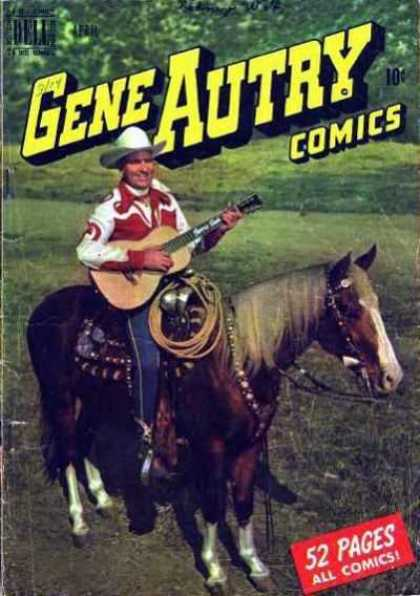 Gene Autry Comics 38 - Cowyboy - Country Music - Ten Cents - Lasso - Old