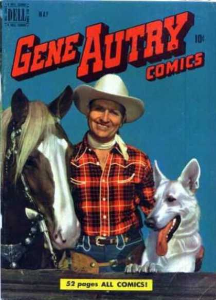 Gene Autry Comics 39 - Gene Autry Comics - Photo - Man - Horse - Dog