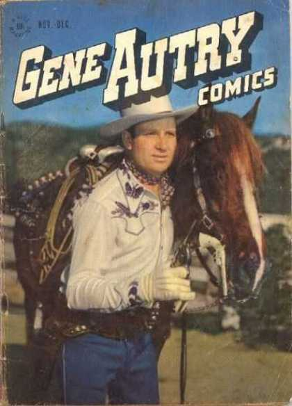 Gene Autry Comics 4 - Cap - Horse - Butterfly - Nov-dec - Rope