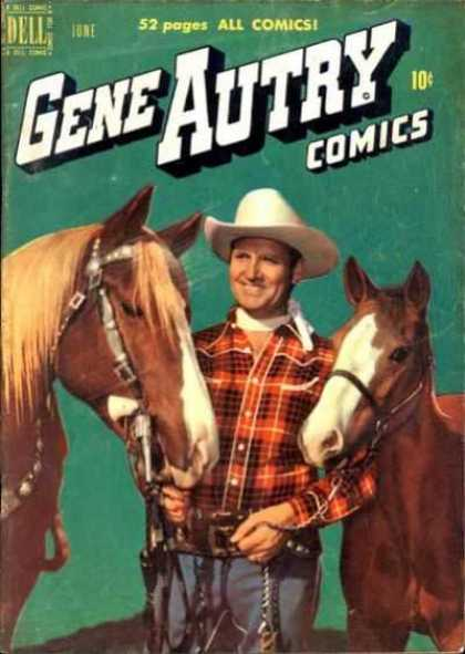 Gene Autry Comics 40 - Gene Autry Comics - Horse - Cowboy - Red Plaid Shirt - Colt